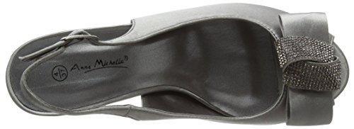 Spot On F10254 - Sandalias Mujer Gris (Pewter)
