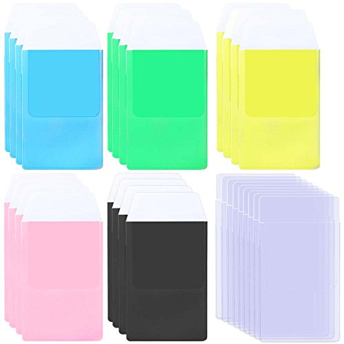 AFUNTA 30 PCS Pocket Protectors for Shirts, 6 Assorted Colors Heavy Duty School Hospital Office Supplies for Pen Leaks - Clear, Black, Blue, Pink, Yellow, Green ()