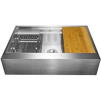 Amazon.com: Ruvati Apront-front - Fregadero de cocina ...
