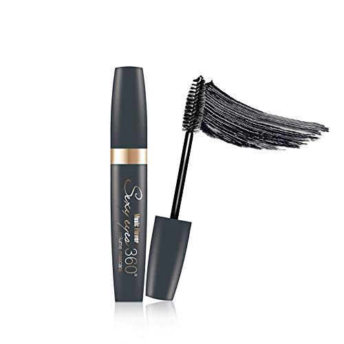 Eyes Makeup Building Mascara Liquid Long Thick Eyelashes Longlasting with Unique 360 Rotating Brush