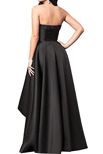 Hi Einfach Lo Satin Traegerlos Festkleid Schwarz Ballkleid Abendkleider Partykleider Damen Ivydressing qpHn1BTX1