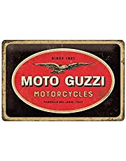 Nostalgic-Art Retro Tin Sign – Moto Guzzi – Logo Gift idea for motorcycle fans, Metal Plaque, 20 x 30 cm