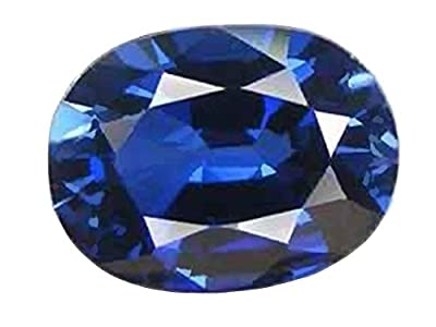 Created Sapphire Blue Oval Facet ~14mm by ugems