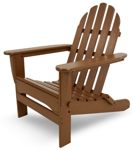 POLYWOOD AD5030TE Classic Folding Adirondack Chair, Height: 35.00