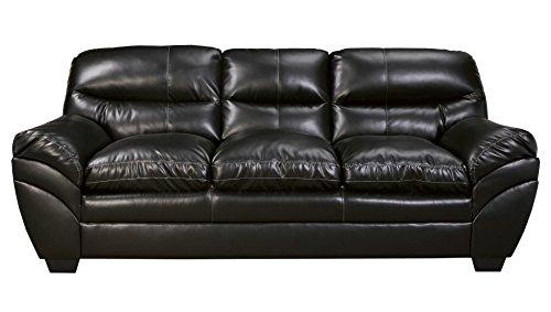 Ashley Tassler DuraBlend Leather Sofa in Black