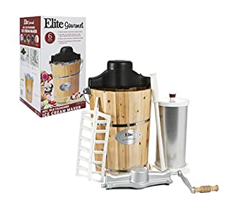 Elite Gourmet EIM-506 6 quart Old-Fashioned Ice Cream Maker : Nice freezer, but needs more stringent product inspection before sending out