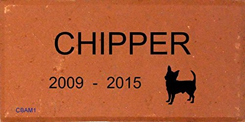 Personalized Pet Memorial Brick engraved with your Dog's Name and Breed - Comfort House # P2228 (Breed Memorial Pet)