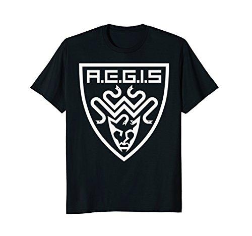 The Tick AEGIS Shield Emblem Tonal Graphic T-Shirt