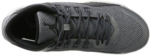 Jordan Nike Mens Stijgende Hoge 2 Basketbalschoen Wolf Grijs / Zwart / Donkergrijs