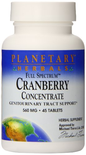 Planetary Herbals Full Spectrum Cranberry Concentrate 100 Tablets, 45 (Planetary Herbals Cranberry)