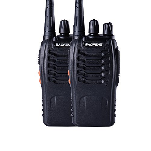 Baofeng BF-888s UHF High Power Intelligent FM Illumination Flashlight Walkie Talkie Two-Way Radio(2 Pack) by BaoFeng