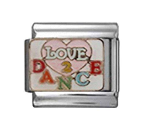 (Stylysh Charms Dance Love to Dance Enamel Italian 9mm Link MD048 )
