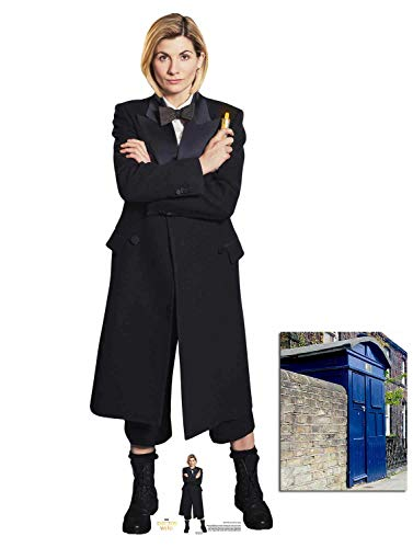 The 13th Doctor Jodie Whittaker Spyfall Suit Official Cardboard Cutout, 167cm x 59cm Includes Mini Cutout and 8x10 Photo