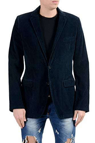 Dolce & Gabbana Men's Corduroy Blue Two Button Blazer Sport Coat US 38 IT 48 Dolce & Gabbana Cotton Coat