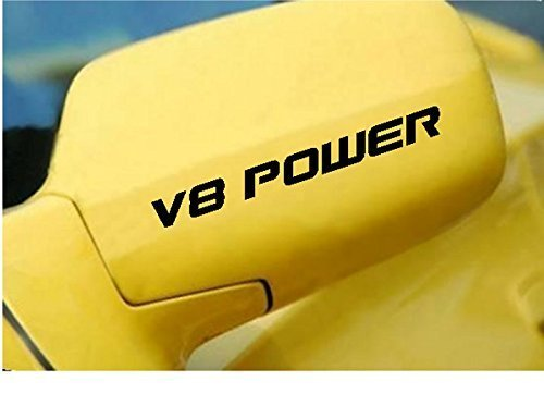 - StickerLoaf Brand V8 POWER Decal Racing Side mirror door Decals race car Sticker Stickers V8 350 305 302 Chevrolet Chevy Dodge Ford Charger Challenger mustang camaro firebird corvette