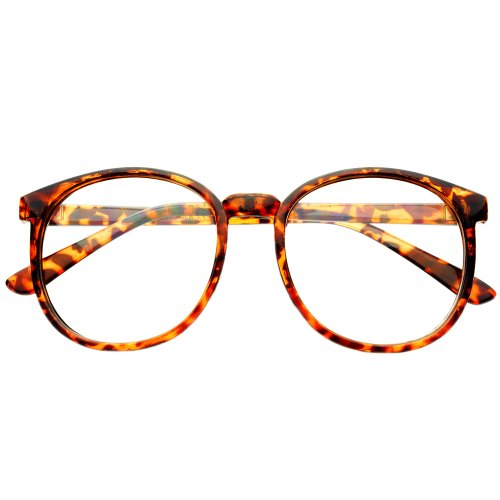 Celebrity Retro Vintage Large Clear Lens Round Eye Glasses Frames - With Eyeglasses Celebrities