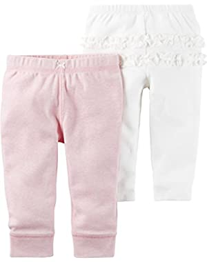 Baby Girls' 2-Pack Ruffle Pants