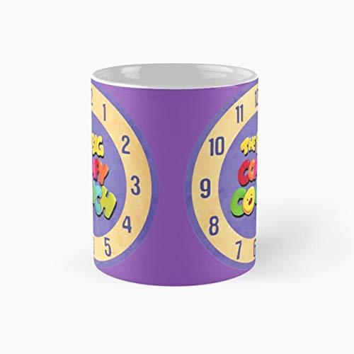 The Big Comfy Couch Clock Mug, the big comfy couch Funny Mugs, 11 Ounce Ceramic Mug, Perfect Novelty Gift Mug, Tea Cups, Funny Coffee Mug 11oz, Tea Mugs