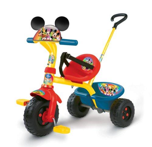 Smoby – Triciclo con mango con diseño de Mickey (444131)