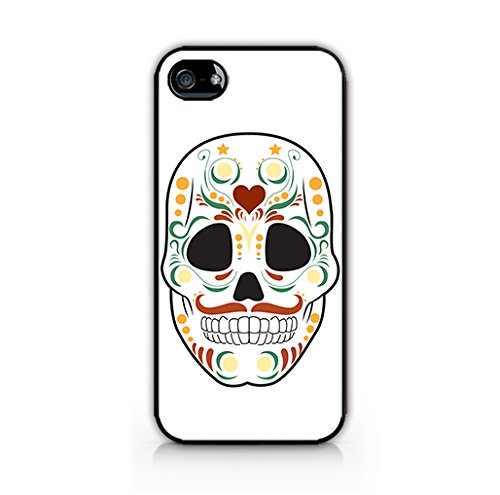 Cream Cookies - Halloween Icons Patterns - Ornamental Sugar Skull - Apple iPhone 4 Case - Apple iPhone 4S Case - Hard Plastic Case]()