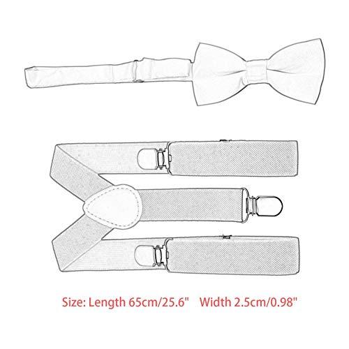 Yaoaomon Regolabile ed Elasticizzato con Clip in Metallo Poliestere Design per Bambini Papillon Kaki