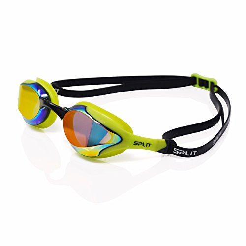 Fluidix Swimming Goggles   Low Profile, Comfy & Adjustable Fit   Hydrodynamic Wide Angle Lenses   Anti Fog