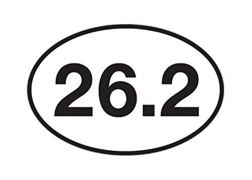 Marathon 26.2 Runner Oval (26.2 Marathon Running Sticker Bumper Sticker Oval 5