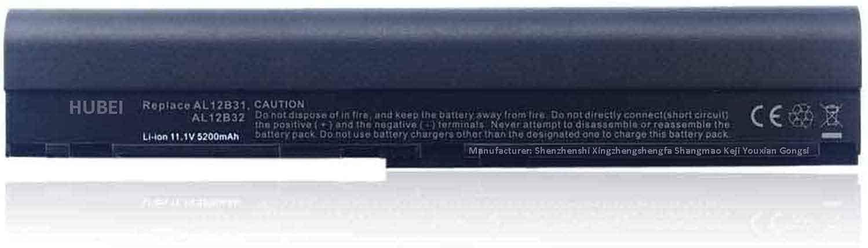 AL12B32 AL12B31 AL12B72 AL12X32 AL12A31 KT.00403.004 AK.004BT.098 Laptop Battery Replacement for Acer Aspire One 725 756 V5-171 Chromebook C7 C710 Aspire V5-121 V5-13 Series (11.1V 5200mAh)