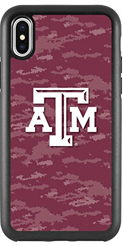 - Texas A&M Emblem on Camo Design on Black iPhone X Guardian Case from Fanmade and Coveroo