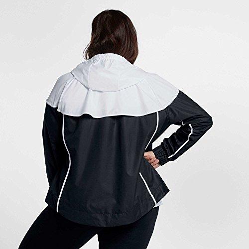 Nike Women's Plus Size Sportswear Windrunner Jacket (Black/White, 2X) by Nike (Image #1)