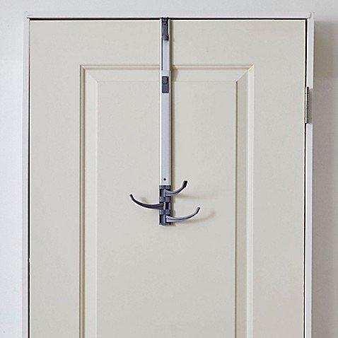 BathSense Over-the-Door Adjustable Telescopic Swivel Hook in Aluminum