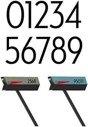 Orange Set of 2 modbox USA Modern Mailbox Numbers Custom Cut to Order
