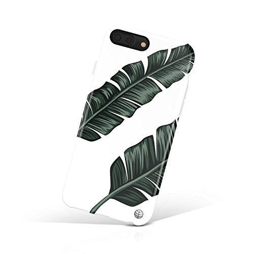 iPhone 8 Plus / 7 Plus case for Girls, Akna Get-It-Now Collection Flexible Silicon Case for Both iPhone 8 Plus & 7 Plus [Tropical Leaves](514-U.S)