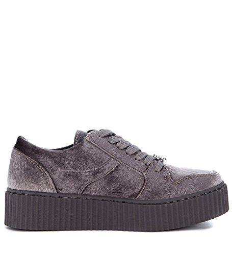 Windsor Smith Womens Oracle Grijs Fluwelen Sneaker 40 (eu) -9 (us) Grijs