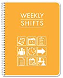 BookFactory Weekly Shifts Journal/Weekly Schedule Log Book/Log Book/Notebook - 120 Pages, 8.5'' x 11'', Wire-O (LOG-120-7CW-PP-(WeeklyShifts))