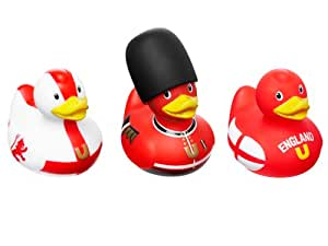 Bud Set of 3 Mini Rubber Duck Bath Tub Toy, England (Discontinued by Manufacturer)