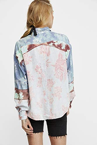 Free People Chasing Waves Buttondown Shirt (Blue Combo)