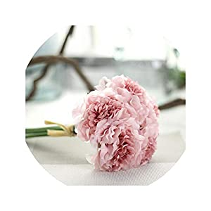 Dream-catching 1 Bouquet 5 Heads Peony Flower Artificial Silk Fake Peony Floral Wedding Bridal Bouquet Christmas Wedding Home Decoration 19