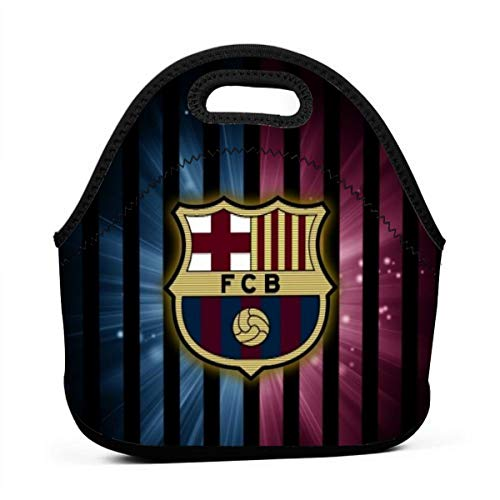 Fresh Fc Barcelona Lunch Bag Insulated Tote Handbag Lunchbox Food Container Tote Warm Pouch (Barcelona Handbag)