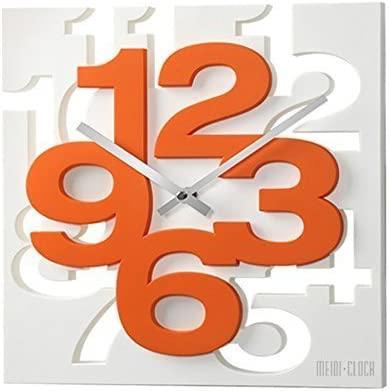 GMMH orologio da parete dal design moderno 3D, 1106, orologio da cucina,  orologio per il bagno, orologio per l\'ufficio, decorazione discreta,  (colore ...