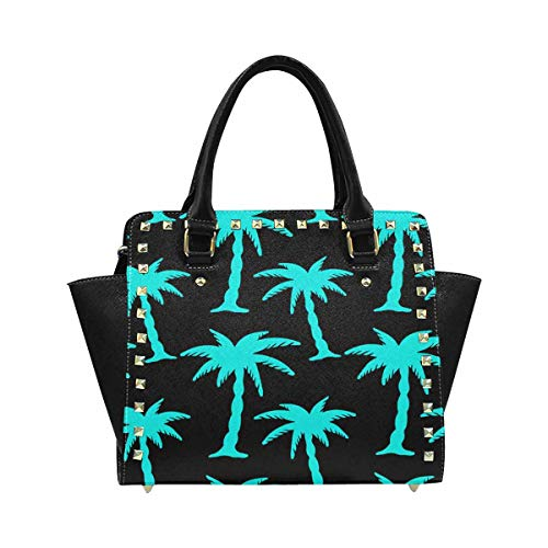(InterestPrint Tropical Coconut Palm Trees Summerrain Forest Purses and Handbags Shoulder Bag for Women Ladies Girls)