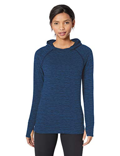 Amazon Essentials Women's Brushed Tech Stretch Popover Hoodie, Navy Space dye, X-Large