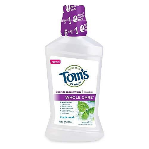 Tom's Whole Care Fluoride Mouthwash, Fresh Mint, 16 fl oz (Pack of 2)