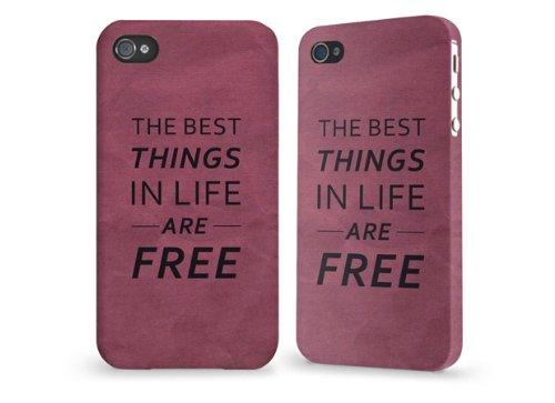 """Hülle / Case / Cover für iPhone 4 und 4s - """"best things purple"""" von caseable"""