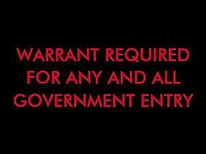 4TH AMENDMENT DOORMAT (Black/Red)