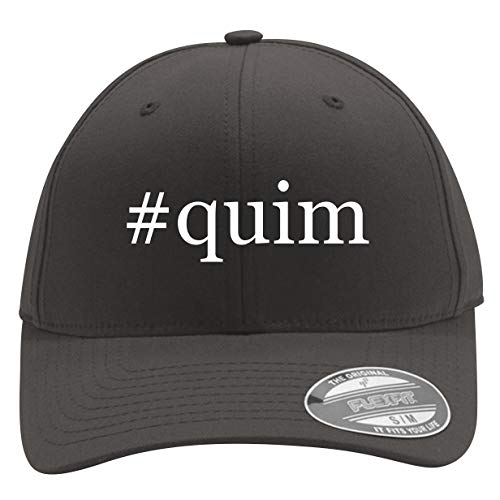 #Quim - Men's Hashtag Flexfit Baseball Cap Hat, Dark Grey, Large/X-Large