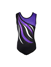 ESHOO One-Piece Sleeveless Dancing Gymnastics Leotards for Girls