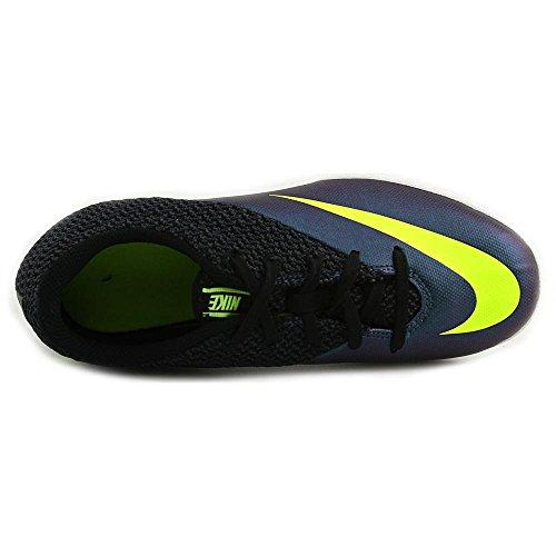 Nike JR Mercurialx Pro IC, Botas de Fútbol para Niños Azul / Verde / Negro (Squadron Blue / Volt-Black)