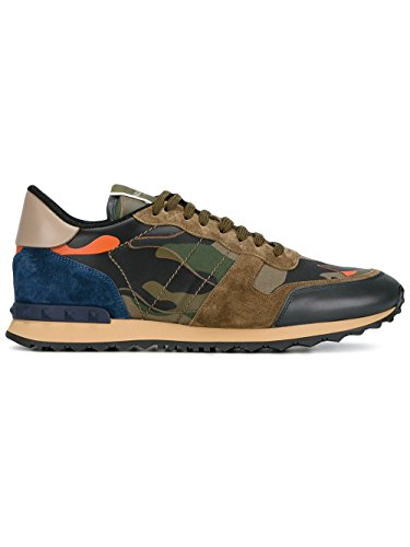 Price comparison product image Valentino Garavani Men's My0s0723tcczgo Multicolor Suede Sneakers