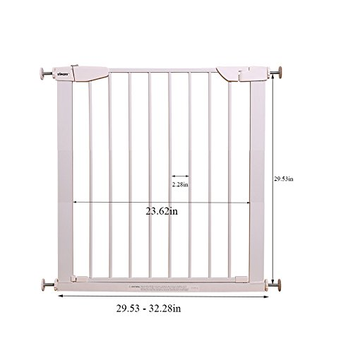 Fairy Baby Easy Step Walk Thru Pet and Baby Gate Expandable 29.5'' High,Fit Spaces 40.55''-43.31'' by Fairy Baby (Image #4)